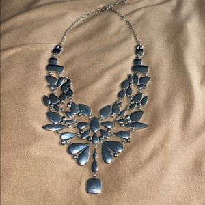 Express silver tone Statement necklace